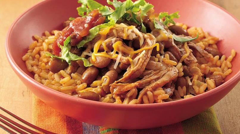 Slow-Cooked Pork Burrito Bowls