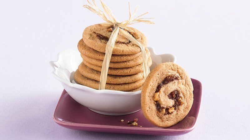 Apple-Date Swirl Cookies