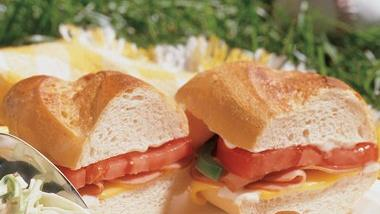 Hot Ham and Cheese Subs
