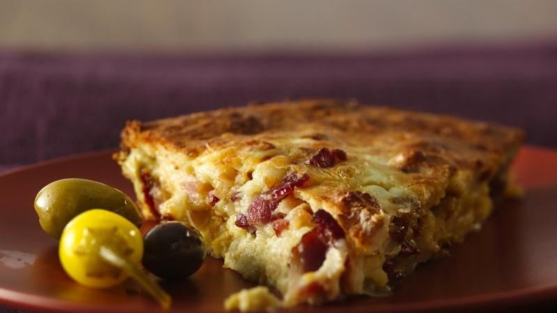 Easy Italian Artichoke-Bacon Pie