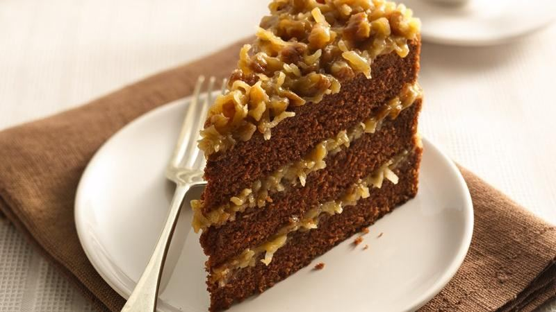 Slice Of German Chocolate Cake Nutrition