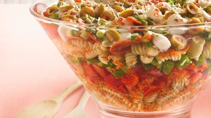Layered Pizza Salad