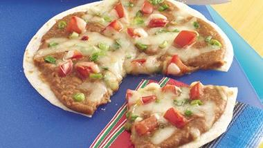 Mexican Bean Pizzas