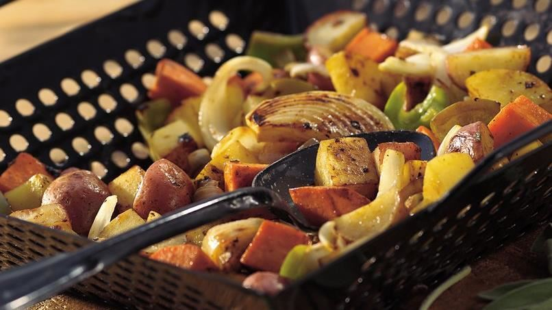 Grilled Three-Potato Medley