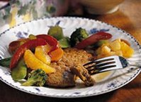 Asian Turkey Patties and Vegetables