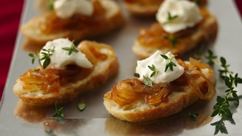 Crostini with Caramelized Onion Jam