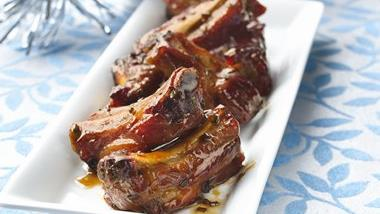 Maple-Apple Party Riblets