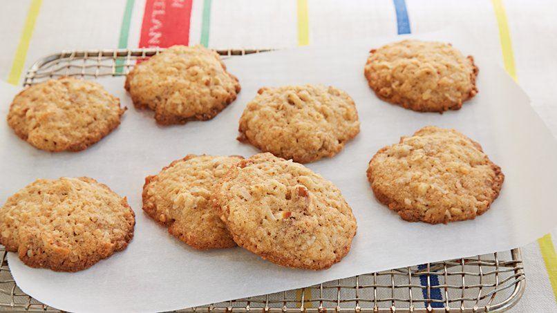 Crispy Oatmeal Coconut Cookies