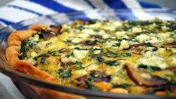 Three Cheese-Vegetable Quiche