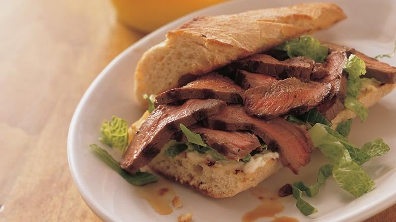 London Broil Sandwiches with Lemon Mayonnaise