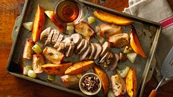 Pork with Sweet Potatoes and Apples Sheet-Pan Dinner