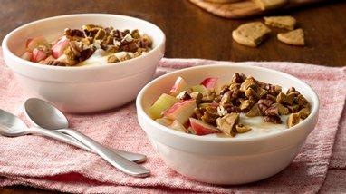 Gingersnap Apple Crisp Yogurt Bowl