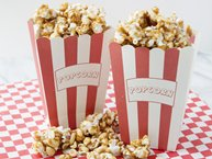 Homemade Caramel Popcorn and Peanuts