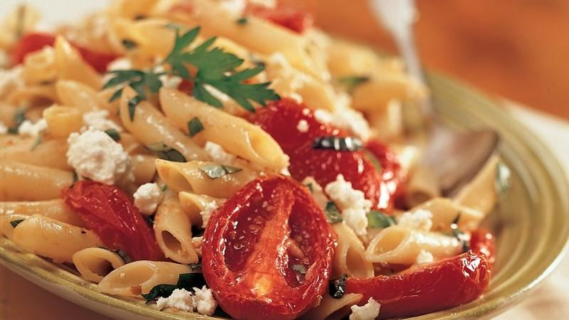 Mostaccioli with Roasted Tomato and Garlic (Cooking for 2)