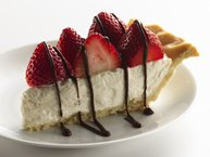 Skinny Strawberries and Cream Pie