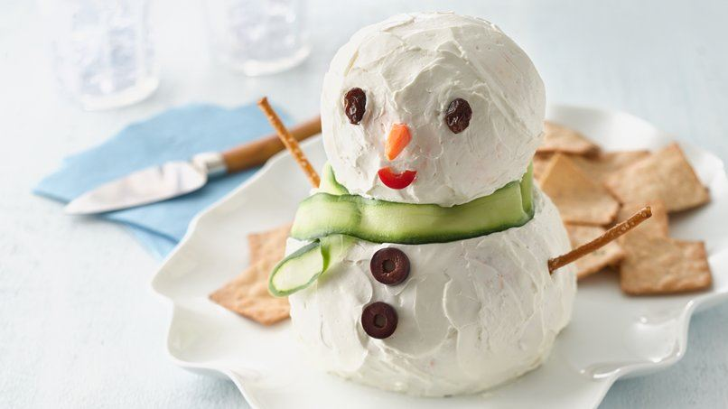 Make-Ahead Snowman Cheese Ball