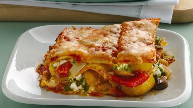 Roasted Vegetable Lasagna with Goat Cheese recipe from ...