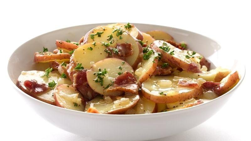 Healthified Hot German Potato Salad