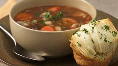 Beef Burgundy Soup for Two