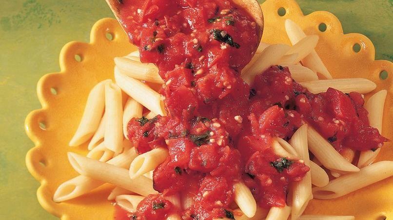 Fresh Tomato and Garlic Penne