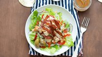 Italian Chopped Salad with Salami Crisps