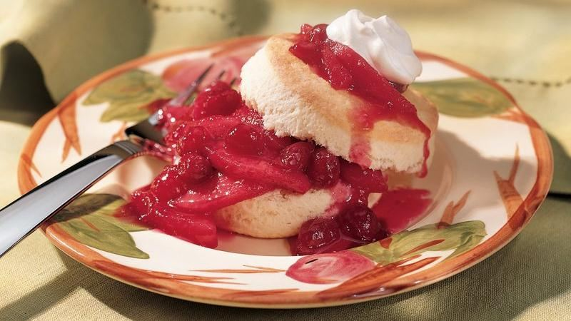 Cranberry-Apple Shortcakes