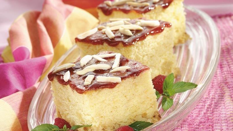 Raspberry Almond Cream Cake