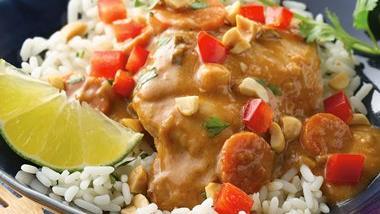 Slow-Cooker Thai Peanut Chicken