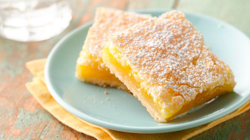 Luscious Lemon Squares recipe from Betty Crocker