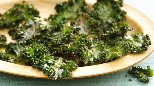 Baked Parmesan Kale Chips recipe from Betty Crocker
