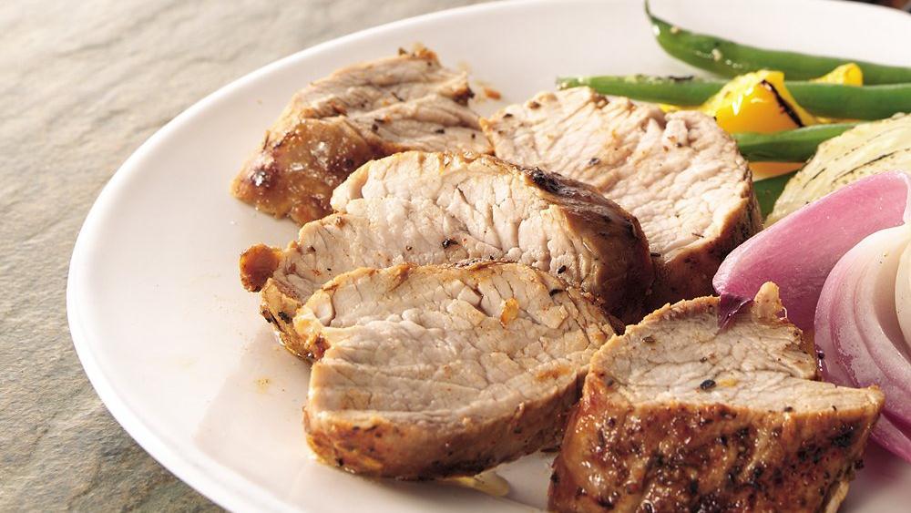 Grilled Lemon-Pepper Pork Tenderloin