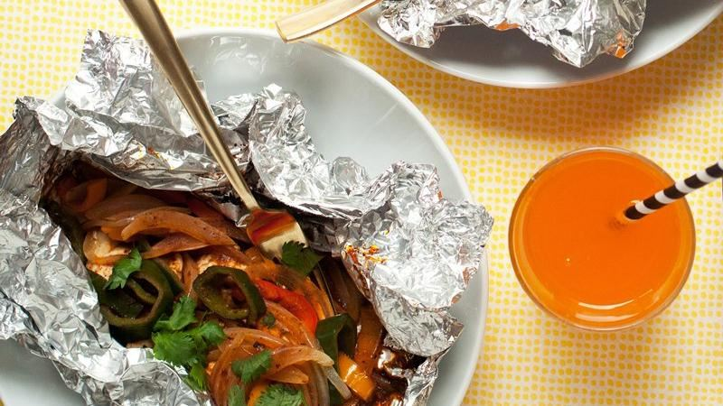 Grilled Chile-Chicken Foil Pack