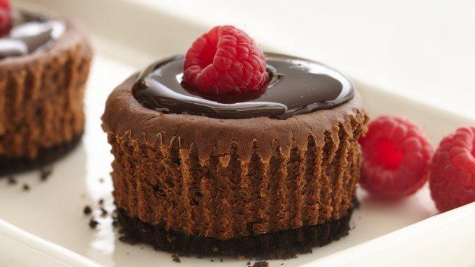 Healthified Mini Chocolate Cheesecakes