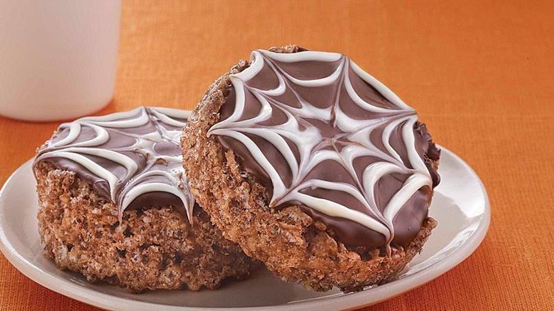 Chocolate Spiderweb Treats