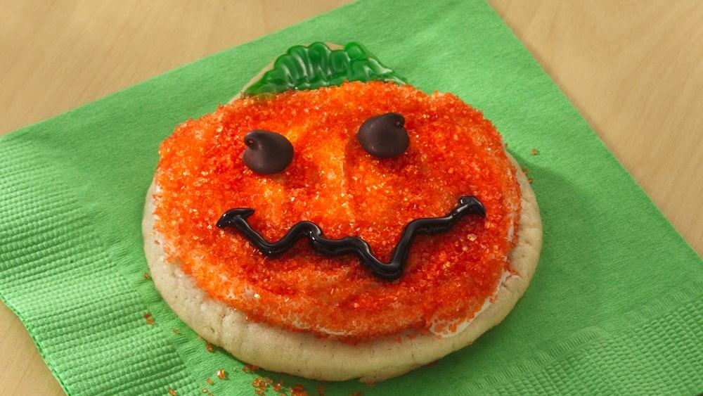 Pumpkin-Shaped Sugar Cookies