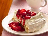Cherry-Berries Meringue Torte