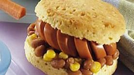 Bean and Wiener Biscuits