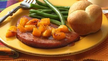 Ham and Fruit Skillet