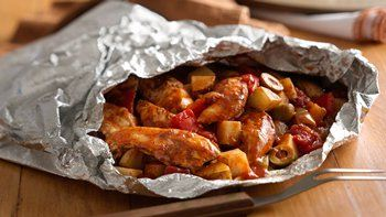 Grilled Spanish Chicken Supper