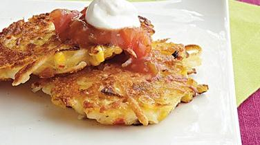 Cheddar-Potato Corn Cakes