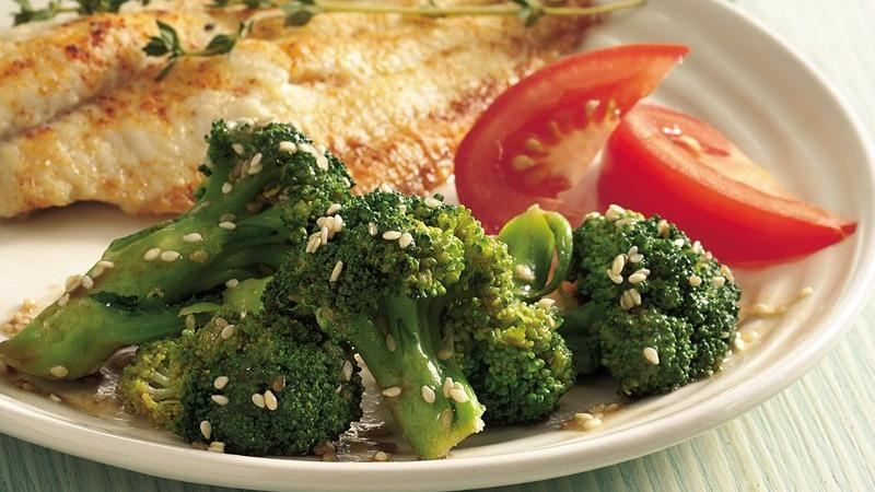 Sesame Buttered Broccoli