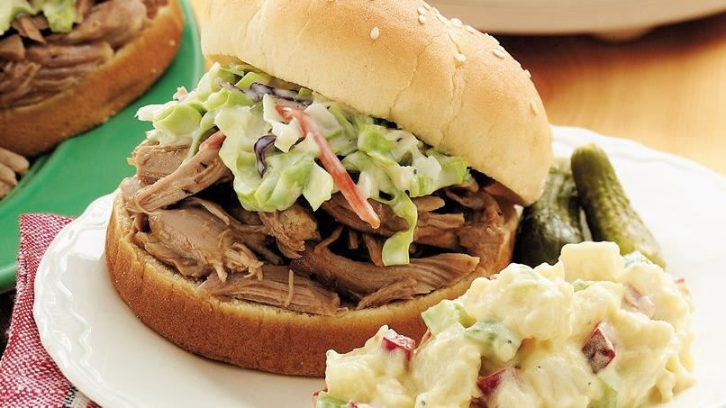 Georgia-style Barbecued Turkey Sandwiches