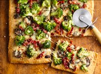 Tuscan Broccoli Pizza
