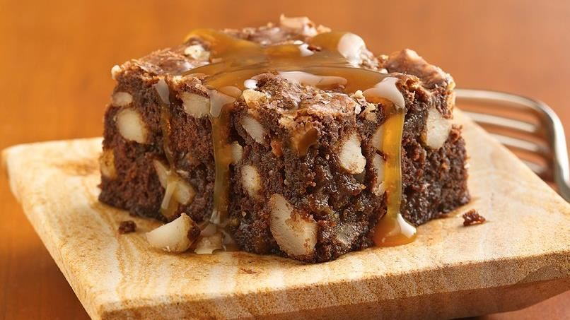 Toffee-Banana Brownies