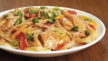 Sesame-Peanut Chicken Lo Mein