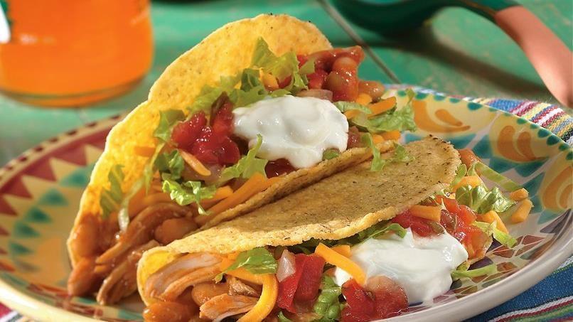 Chicken-Bean Tacos