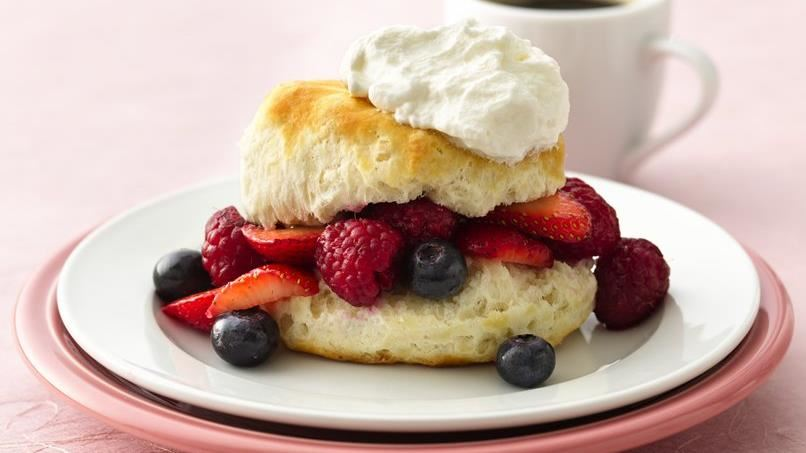 Triple Berry Biscuit Shortcakes