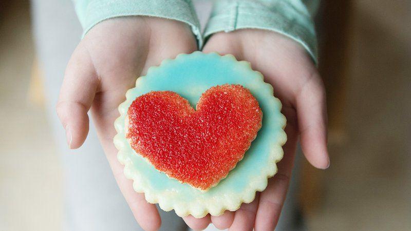 Double-Heart Sugar Cookies