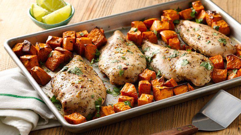 Jerk Chicken With Sweet Potatoes Sheet Pan Dinner Recipe