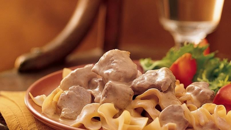 Slow-Cooker Beef Stroganoff (Cooking for 2)